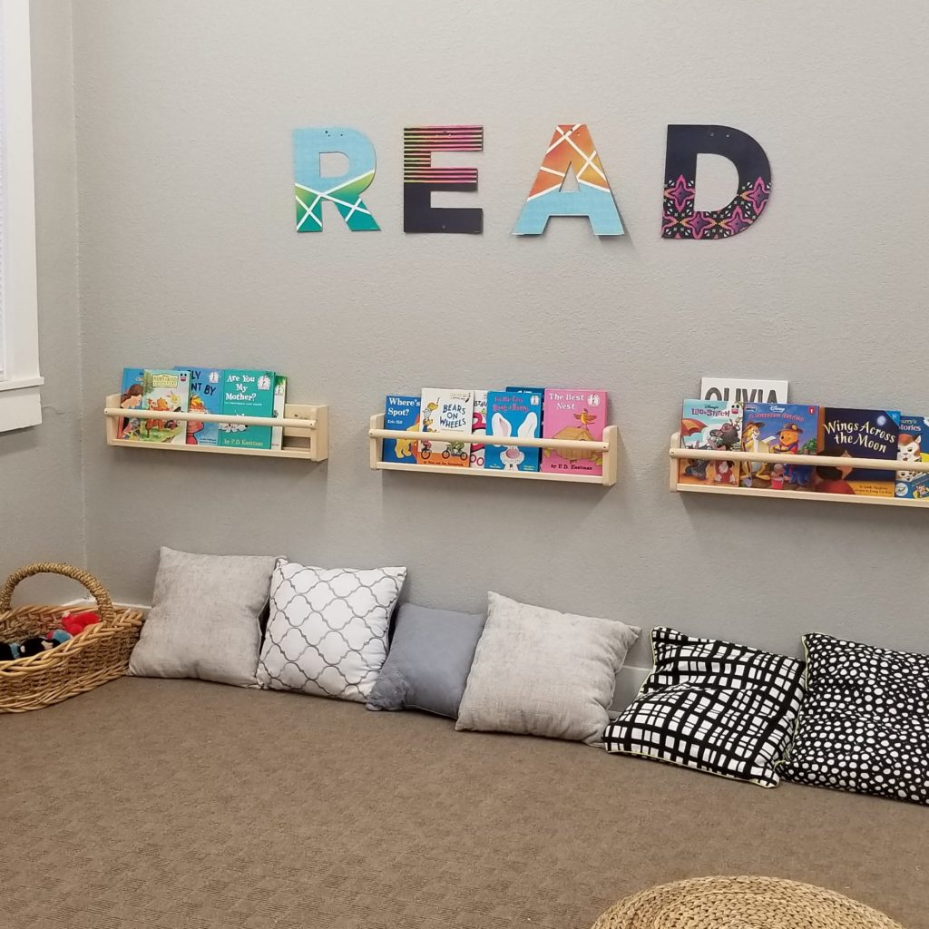 A reading center with children's books.